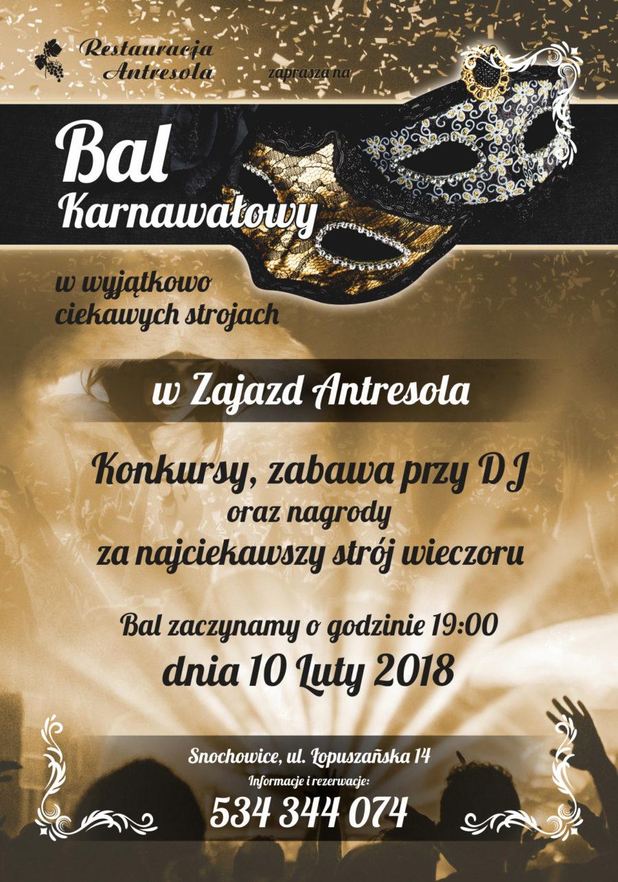 Bal Karnawałowy w Zajeździe Antresola w Snochowicach