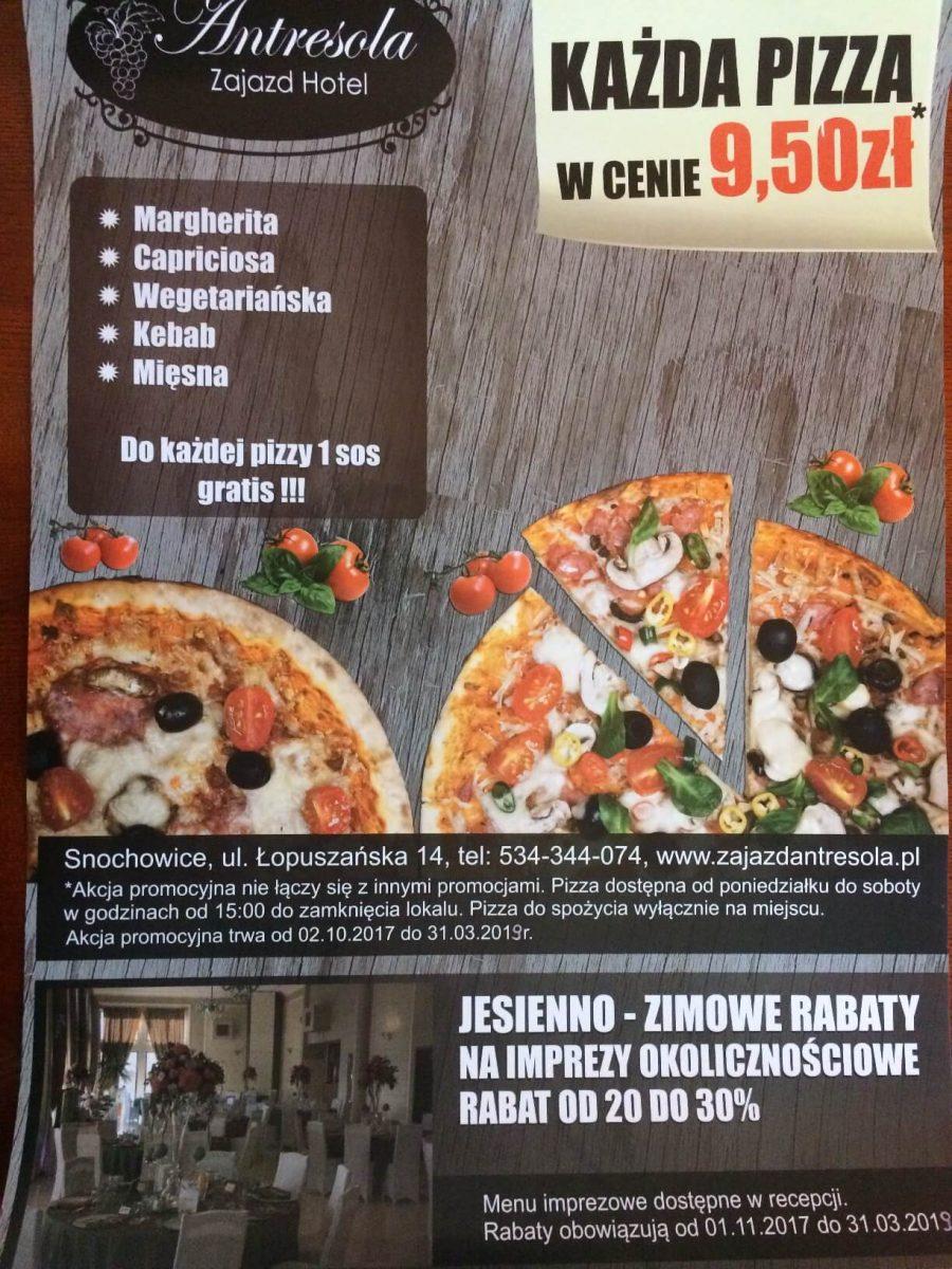 Promocja! Pizza za jedyne 9,50 zł